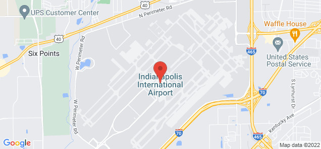 Map of Indianapolis International Airport