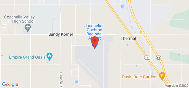 Map of Jacqueline Cochran Regional Airport