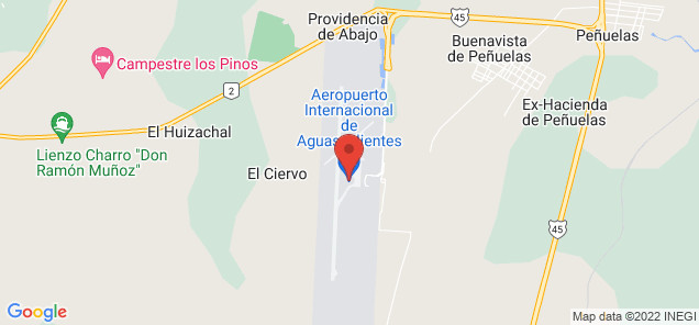 Map of Jesús Terán Peredo International Airport