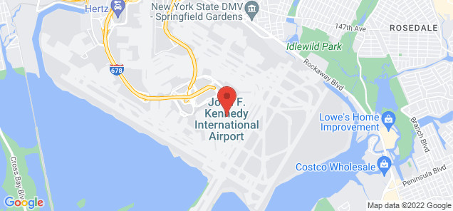 Map of John F. Kennedy International Airport