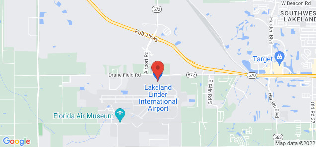 Map of Lakeland Linder Regional Airport