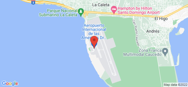 Map of Las Américas International Airport