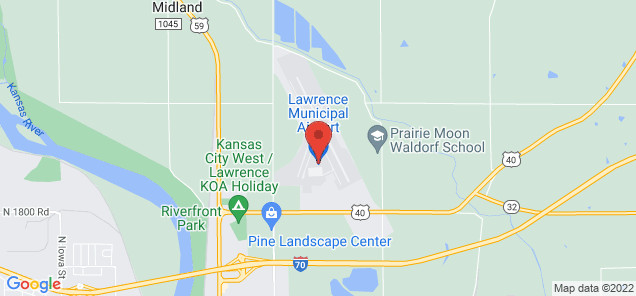 Map of Lawrence Municipal Airport