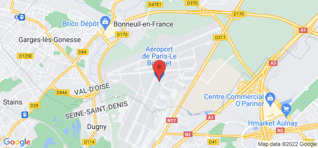Map of Le Bourget Airport