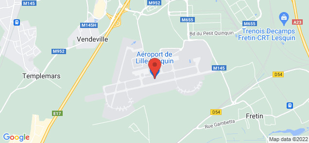 Map of Lille Lesquin Airport