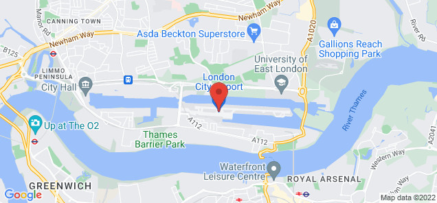 Map of London City Airport