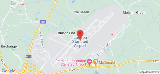 Map of London Stansted Airport