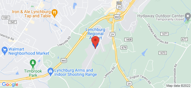 Map of Lynchburg Regional Airport