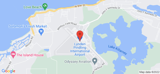 Map of Lynden Pindling International Airport