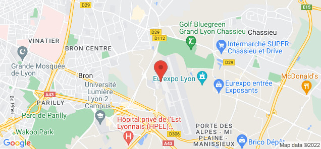 Map of Lyon Bron Airport