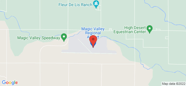 Map of Magic Valley Regional Airport
