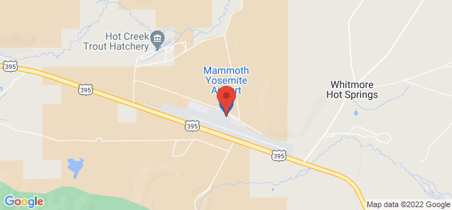 Map of Mammoth Yosemite Airport