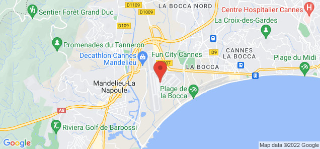Map of Mandelieu Airport