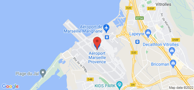 Map of Marseille Provence Airport