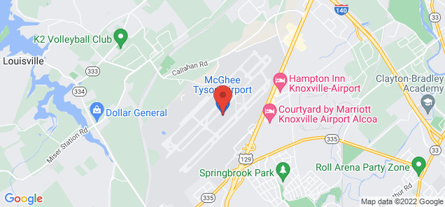 Map of McGhee Tyson Airport