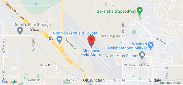 Map of Meadows Field Airport