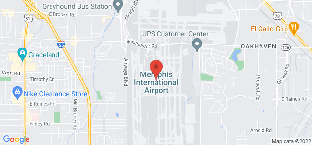 Map of Memphis International Airport