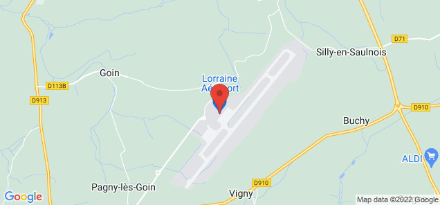 Map of Metz Nancy Lorraine Airport
