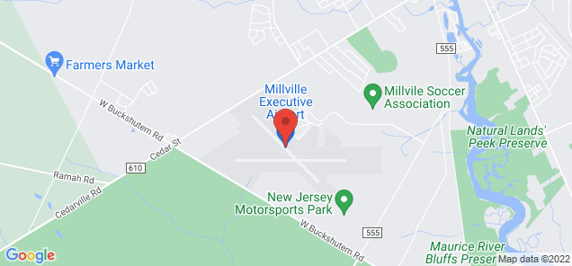 Map of Millville Municipal Airport
