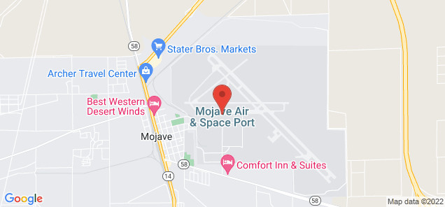 Map of Mojave Air and Space Port