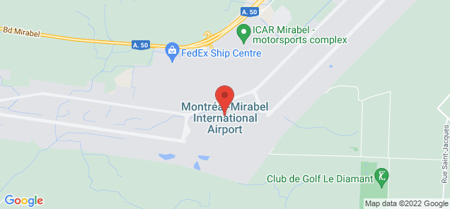 Map of Montréal Mirabel International Airport