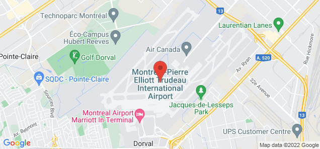 Map of Montréal-Pierre Elliott Trudeau International Airport