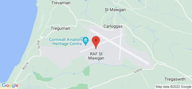 Map of Newquay Cornwall Airport