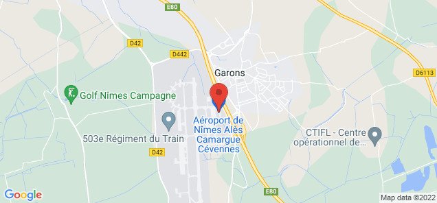 Map of Nimes Garons Airport