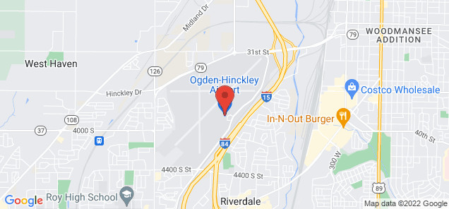 Map of Ogden-Hinckley Airport