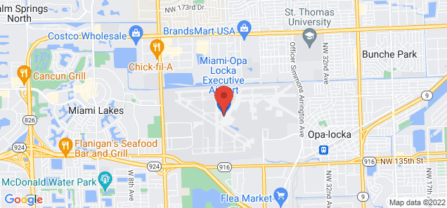 Map of Opa Locka Executive Airport