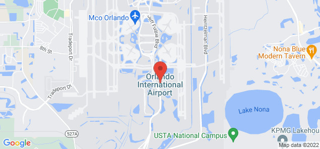 Map of Orlando International Airport
