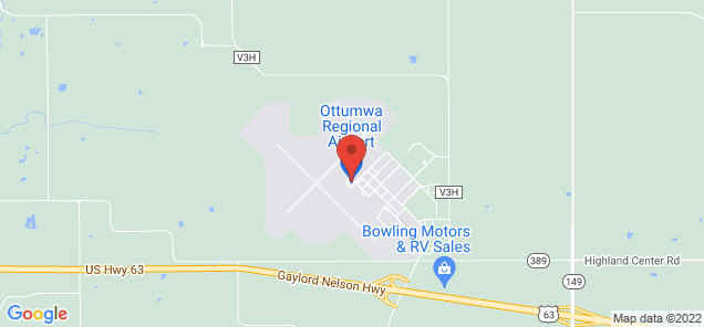 Map of Ottumwa Regional Airport