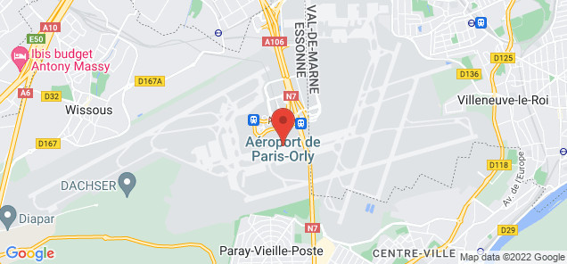 Map of Paris Orly Airport