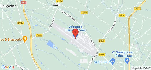 Map of Pau Pyrenees Airport