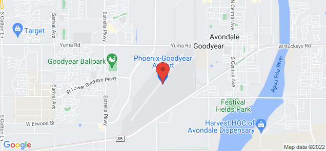 Map of Phoenix Goodyear Airport