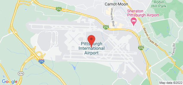 Map of Pittsburgh International Airport