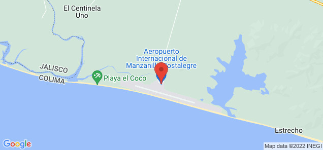Map of Playa de Oro International Airport