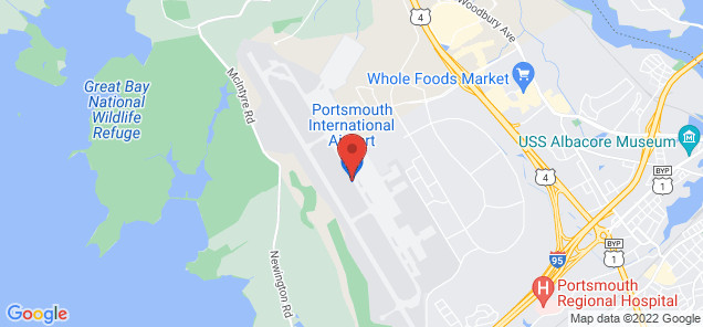 Map of Portsmouth International Airport