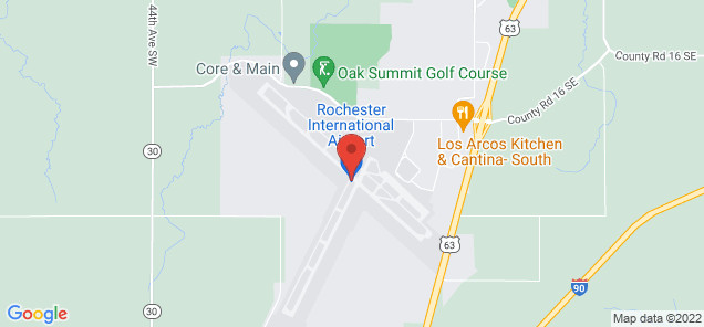 Map of Rochester International Airport