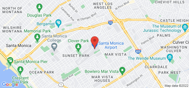 Map of Santa Monica Airport