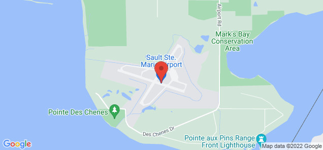 Map of Sault Ste. Marie Airport