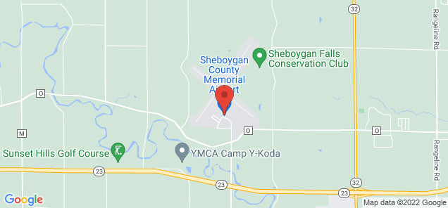 Map of Sheboygan County Memorial Airport