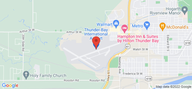 Map of Thunder Bay International Airport