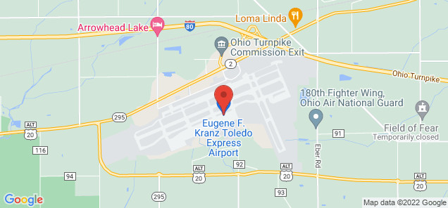 Map of Toledo Express Airport