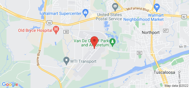 Map of Tuscaloosa Regional Airport