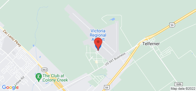 Map of Victoria Regional Airport