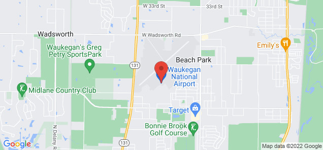 Map of Waukegan Regional Airport
