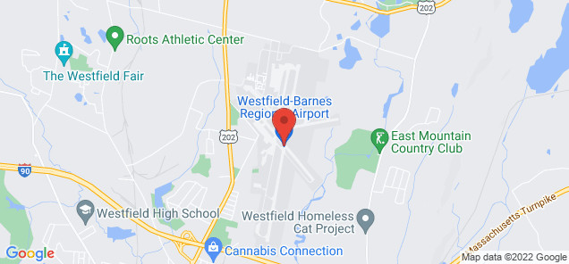 Map of Westfield-Barnes Regional Airport