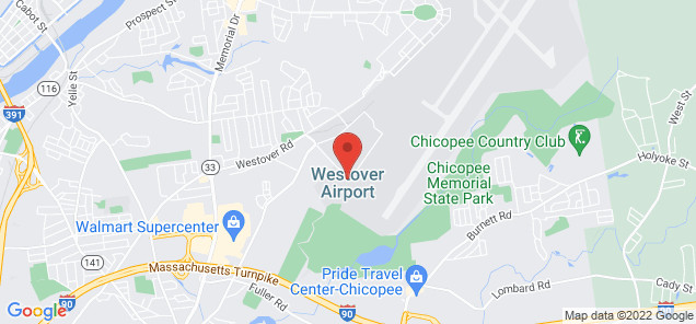 Map of Westover Metropolitan Airport