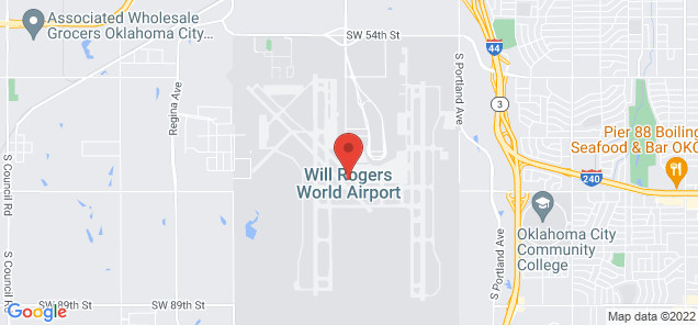 Map of Will Rogers World Airport